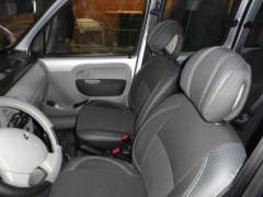Авточехлы Premium для салона Renault Kangoo '03-09 красная строчка (MW Brothers)