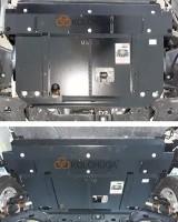 Фото 2 - Защита двигателя и КПП, радиатора для Ford Custom '18-, V-2.0TDCi, МКПП (Кольчуга) Zipoflex