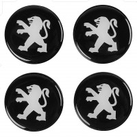 Колпачки на диски для Peugeot, черные 48x42 см (4 шт.)