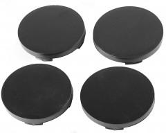Колпачки на диски без эмблемы, черные 64x62 мм (4 шт)