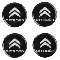 Колпачки на диски для Citroen, черные 48x42 см (4 шт.)