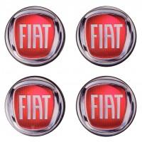 Колпачки на диски для Fiat, красные 48x42 см (4 шт.)
