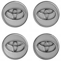 Колпачки на диски для Toyota, серые 60x55 мм (4 шт)