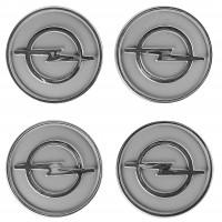 Колпачки на диски для Opel, серые 60x55 мм (4 шт)