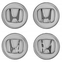 Колпачки на диски для Honda, серые 60x55 мм (4 шт)