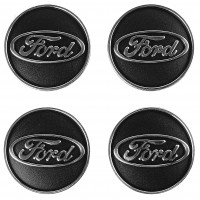 Колпачки на диски для Ford, черные 60x55 мм (4 шт)