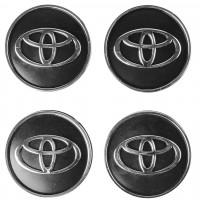Колпачки на диски для Toyota, черные 60x55 мм (4 шт)