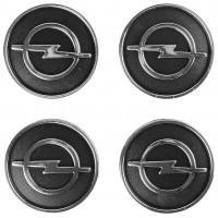 Колпачки на диски для Opel, черные 60x55 мм (4 шт)
