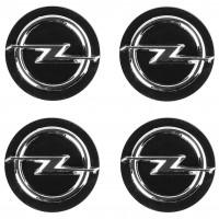 Колпачки на диски для Opel, черные 60x56 мм (4 шт)