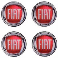 Колпачки на диски для Fiat, красные 64x62 см (4 шт.)