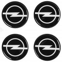 Колпачки на диски для Opel, черные 64x62 см (4 шт.)