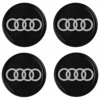 Колпачки на диски для Audi, черные 65x56 см (4 шт.)