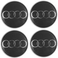 Колпачки на диски для Audi, темно-серые 69x55 см (4 шт.)
