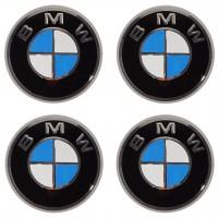 Колпачки на диски для BMW, черные 69x55 см (4 шт.)