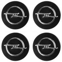 Колпачки на диски для Opel, черные 64x59 мм (4 шт)