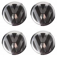 Колпачки на диски для VW, черные, металлик 76x62 см (4 шт.)