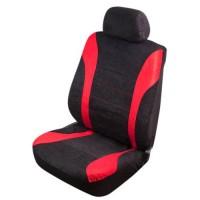 Универсальный набор чехлов на сиденья Vitol, полный к-т, красные