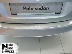 Накладка на бампер для Volkswagen Polo '10-15 седан (Premium)