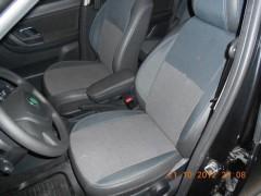 Авточехлы Premium для салона Skoda Roomster '07- красная строчка (MW Brothers)
