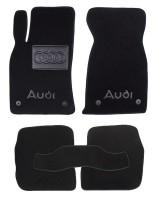 Коврики в салон для Audi A6 '97-05 текстильные, черные (Люкс) 4 клипсы