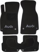 Коврики в салон для Audi A6 '05-10 текстильные, черные (Люкс) 8 клипс