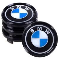 Колпачки на диски для BMW, черные 68x63 см (4 шт.)