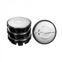 Колпачки на диски для Opel, серые 65x56 мм (4 шт)