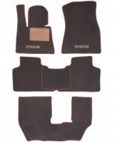 Коврики в салон для BMW X7 G07 '19-, 3 ряда, текстильные, коричневые (Премиум)