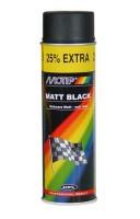 Фото 1 - Аэрозольная эмаль универсальная черная матовая 500 мл. (Motip)