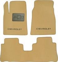 Коврики в салон для Chevrolet Captiva '06- текстильные, бежевые (Люкс)