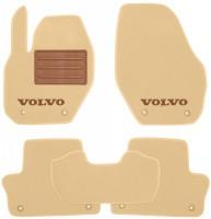 Коврики в салон для Volvo XC 60 '09-13 текстильные, бежевые (Люкс) 8 клипсы