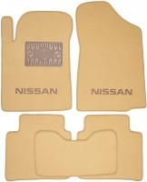 Коврики в салон для Nissan Teana '08- текстильные, бежевые (Люкс)