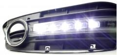 Дневные ходовые огни для Audi A4 2008-2012 (LED-DRL)