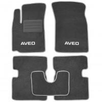 Коврики в салон для Chevrolet Aveo '04-11 текстильные, серые (Стандарт Плюс)