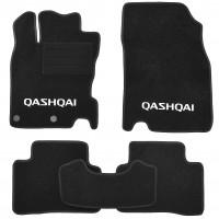 Коврики в салон для Nissan Qashqai '14- текстильные, черные (Стандарт Плюс)