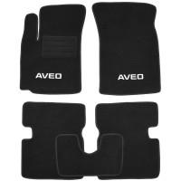 Коврики в салон для Chevrolet Aveo '04-11 текстильные, черные (Стандарт Плюс)