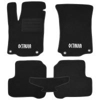 Коврики в салон для Skoda Octavia '97-09 текстильные, черные (Стандарт Плюс)