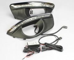 Дневные ходовые огни для Hyundai Santa Fe '10-12 (LED-DRL)