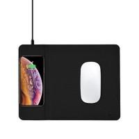 Беспроводное ЗУ + коврик для мышки COTEetCI черный (CS5186-BK)