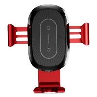 Беспроводное автомобильное ЗУ Baseus Wireless Charger Gravity Car Mount красный (WXYL-09)