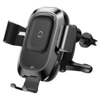 Автомобильное беспроводное ЗУ Baseus Smart Vehicle Bracket черное (WXZN-01)