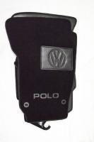 Коврики в салон для Volkswagen Polo '02-05 текстильные, черные (Люкс) 4 клипсы