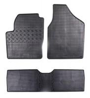 Коврики в салон для Volkswagen Sharan '01-10 резиновые, черные (Rigum)