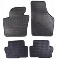 Коврики в салон для Volkswagen Sharan '10- резиновые, черные (Rigum)