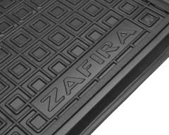 Фото 3 - Коврики в салон для Opel Zafira B '05-13 резиновый, черный, 3 ряд (AVTO-Gumm)