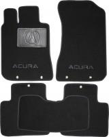 Коврики в салон для Acura RL '04-12 текстильные, черные (Люкс)
