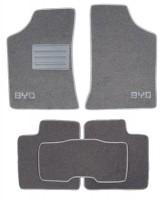 Коврики в салон для BYD G3 '09- текстильные, серые (Люкс)