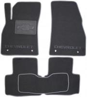 Коврики в салон для Chevrolet Malibu '12- текстильные, серые (Люкс)
