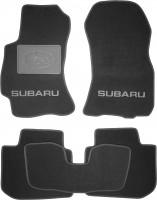 Коврики в салон для Subaru Legacy '10-14 текстильные, черные (Люкс) без лентяйки