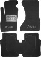 Коврики в салон для Audi A8 '03-10 Long, текстильные, черные (Люкс)